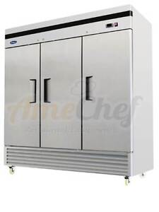 Atosa Commercial Reach In 3 Doors Freezer bottom Mount new Mbf8504 2yr Warranty