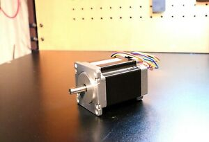 Nema 23 Stepper Motor 3 5a 300oz In 2 4mh Inductance 1 4in Double Shaft
