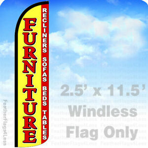 Furniture Recliners Sofa Beds Windless Swooper Feather Flag Sign 2 5x11 5 Yz