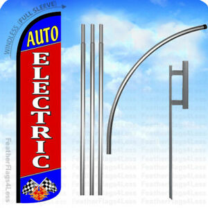 Auto Electric Windless Swooper Flag 15 Kit Feather Banner Sign Rz