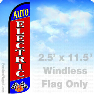 Auto Electric Windless Swooper Flag Feather Banner Sign 2 5x11 5 Rz