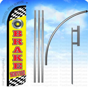 Brake Service Windless Swooper Flag 15 Kit Feather Banner Sign Yz