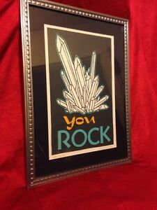 Roll Tumble Press Letter Press Rock Crystal Art Print Retro