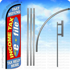 Income Tax E file Fast Refund Help Windless Swooper Flag 15 Kit Feather Rz
