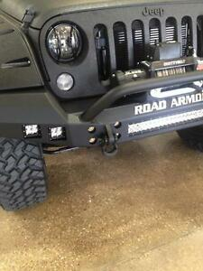 Road Armor Full Width Front Stealth Bumper W Light Mounts Guard Wrangler Jk