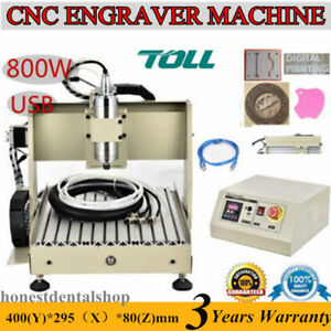 Usb 4 Axis Cnc Router 3040 Engraver Milling Drilling Carving Machine 3d Cutter