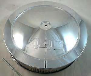 14 Chevy 440 Logo Muscle Car Style Chrome Steel Air Cleaner Holley Edelbrock