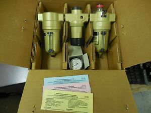 Norgren P4a 460 a30a Compressed Air Regulator Lubricator Filter Combo