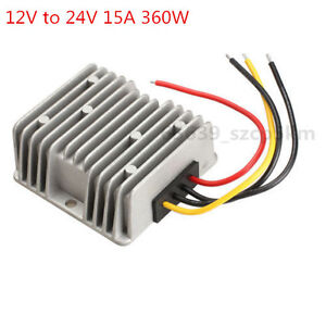New Voltage Booster Power Dc Converter Step Up Regulator 12v To 24v 15a 360w