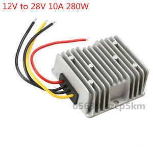 New Voltage Booster Power Dc Converter Step Up Regulator 12v To 28v 10a 280w
