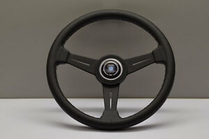 Nardi Personal Steering Wheel Classic 340mm Black Leather Black Spokes
