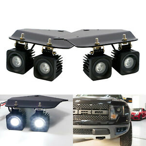 40w Cree Led Fog Lights W Bumper Mounting Bracket Wiring For 10 14 Ford Raptor