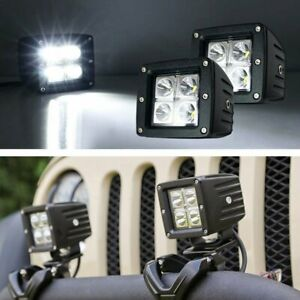 2 3 20w Cree Led Cubic Pod Lights For Truck Jeep Off Road Atv 4wd 4x4 Etc