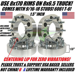4 Dodge 8x6 5 To Ford 8x170 Wheel Adapters 9 16 Studs Put Ford Wheels On Dodge