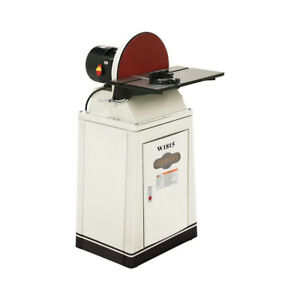 Shop Fox W1815 1-12 HP 220V 1725 RPM 15-inch Disc Sander with Brake