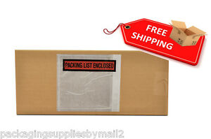 10000 Packing List Slip Holders Enclosed Pouch 5 1 2 X 10 Back Side Load