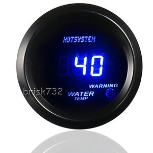 Universal 2 52mm Digital Led Water Temp Temperature Gauge Black Hot