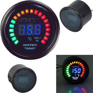 20led 2 52mm Blue Digital 20 Led Water Temperature Gauge Universal Hotsystem