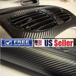4d Premium Glossy Carbon Fiber Vinyl Wrap Film Sticker bubble Free 12 x60