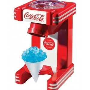Coca cola Sno Cone Maker Snow Machine Coke Cola Shaved Ice Nostalgia Retro Icee