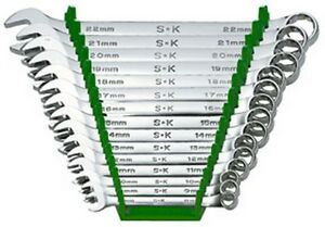 15 Pc 12 Point Superkrome Metric Combination Wrench Set Skt 86265 Brand New