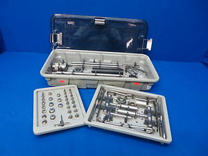 Spine tech 5050 4021 4010 Sulzer Interbody Infusion Anterior Instrument Tray Set