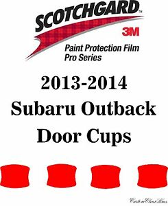 3m Scotchgard Paint Protection Film Pro Series Fits 2013 2014 Subaru Outback