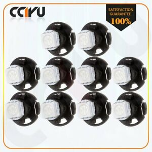 10pcs T5 Neo Wedge 1 5050 Smd Led White Dash A C Climate Control Light Bulbs 12v