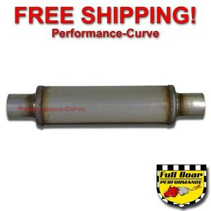 Performance Muffler Max Flow Stainless Steel 2 25 4 Round 14 Body Jxs0445