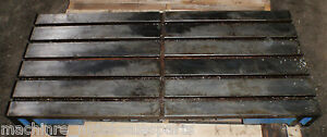 48 75 X 21 50 X 5 Steel Welding T slotted Table Cast Iron Layout Plate 4 Slot