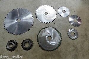 Assorted Thurston Brown Sharpe Illinite Butterfield Groove Cutter Saw