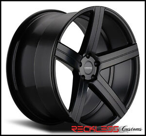20 Varro Vd05 Black Concave Staggered Wheels Rims Fits Ford Mustang Gt Gt500