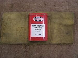Oem Ford Wax Treated Dusting Cloth Can Rotunda 1960 s Fairlane Galaxie Mustang