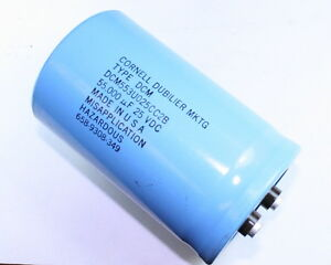 Lot Of 2 Cde Dcm553u025cc2b 55000uf 25v Large Can Electrolytic Capacitor