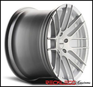 19 Varro Vd08 Silver Concave Staggered Wheels Rims Fits Ford Mustang Gt