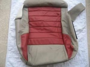 05 06 07 08 09 Ford Mustang Roush Passenger Red tan Leather Bottom Seat Cover Rh