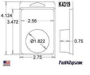 K4319 800 4 h X 3 w X 0 75 d Round Clamshell Packaging Clear Plastic Blister