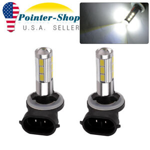 2x White 2323 Smd 881 Led High Power Fog Driving Light Bulbs 12v 24v 1200lm