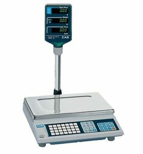 60 Lb X 0 02 Lb Cas Ap 1 Price Computing Pos Retail Scale With 200 Plu s New