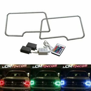 Rgb Multi Color Led Angel Eyes Halo Rings For Ford 09 14 F150 10 14 F150 Raptor