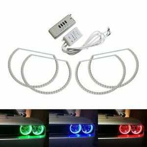 Headlight Retrofit Rgb Led Angel Eye Halo Rings For 2008 2014 Dodge Challenger