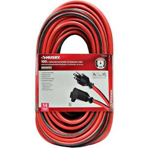 100 Ft 14 Gauge Indoor outdoor Extension Cord Heavy Duty Electrical Power Cable