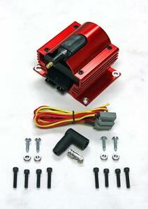 12 Volt Red Anodized E Core External Ignition Power Coil 12v Racing