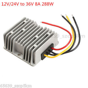 New Voltage Booster Power Dc Converter Step Up Regulator 12v 24v To 36v 8a 288w