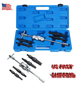 5pc Blind Hole Pilot Bearing Gear Puller Slide Hammer Removal Repair Tool Set