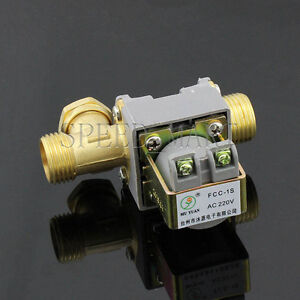 Ac220v Electric Solenoid Valve For Water 1 2 Electric Magnetic Valve Brand New