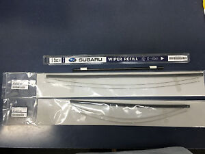 2009 2013 Subaru Forester Front Rear Windshield Wiper Blade Refill Set Genuine