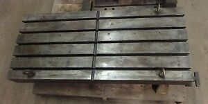 48 75 X 21 75 Steel T Slotted Table Cast Iron Layout Welding Fixture