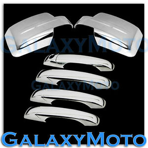 Triple Chrome Plated Mirror 4 Door Handle Cover For 07 15 Jeep Patriot Combo Kit