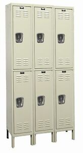 Hallowell Galvanite 2 Tier 3 Wide School Locker